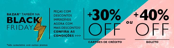 Black Friday na Coleção do Cantão. 30% OFF em toda a loja online. Comprando no boleto o desconto vai para 40%.