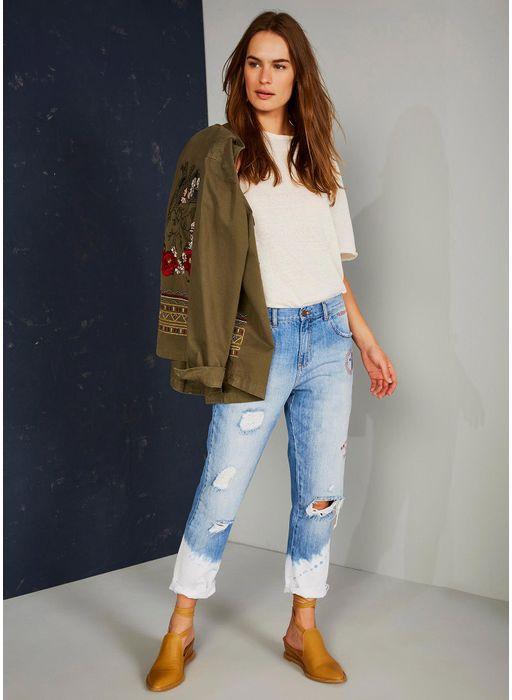 6afb4b01d Calça jeans boyfriend cintura baixa Premium JEANS - Compre Online na ...