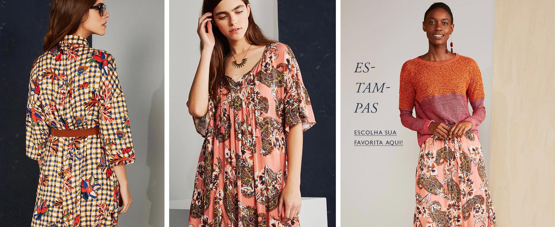 Estampa, florido, vestido, macacão, blusa