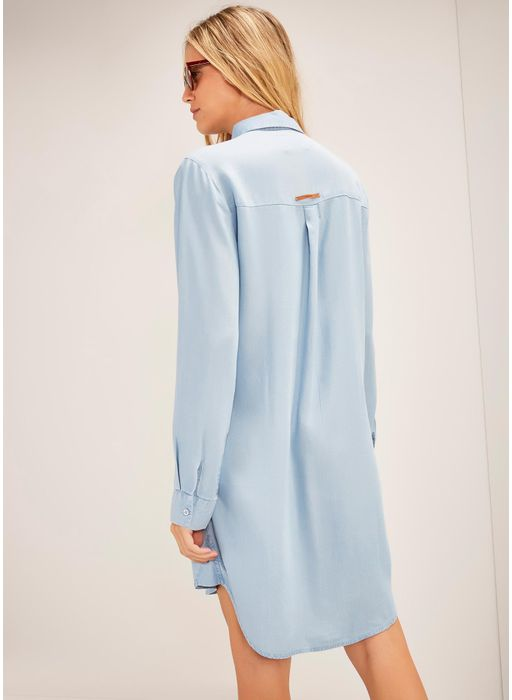 79377d560 Vestido chemisier jeans curto Blue JEANS - Compre Online na Cantão!