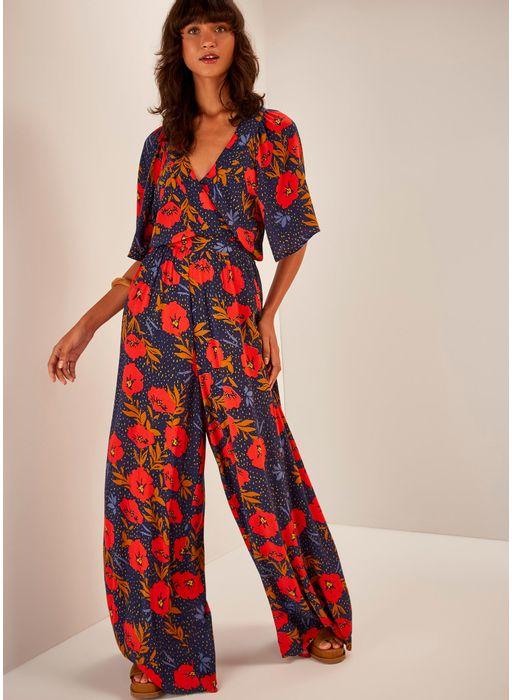6303e1d13 Macacão pantalona estampado maria bonita - Compre Online na Cantão!