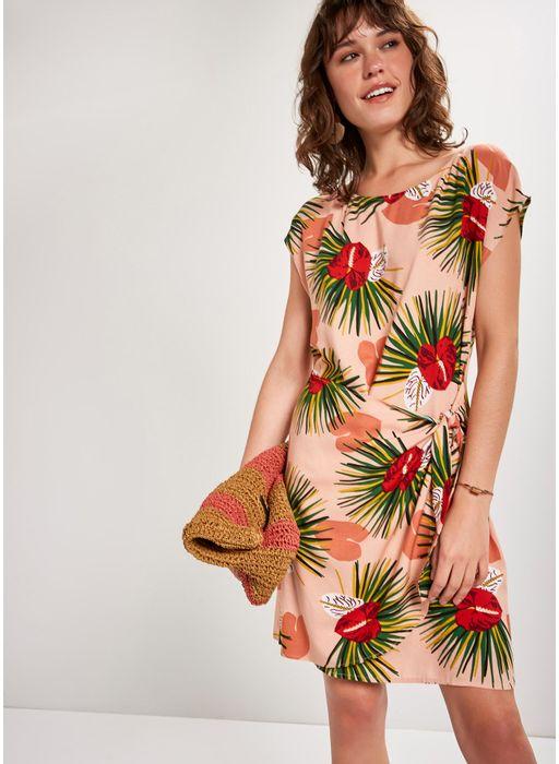 31ec52737696 Vestido curto estampado coração - Compre Online na Cantão!
