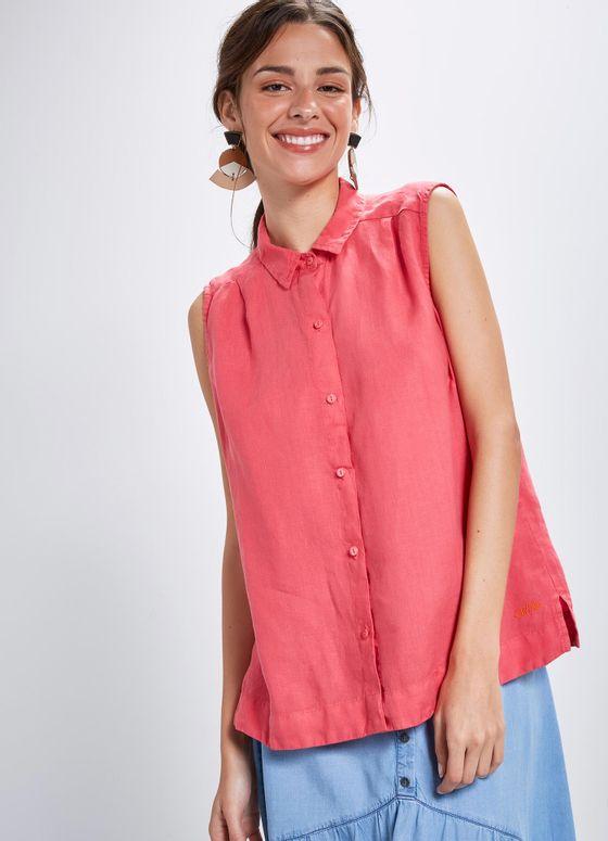 Camisa cambraia linho ROSA