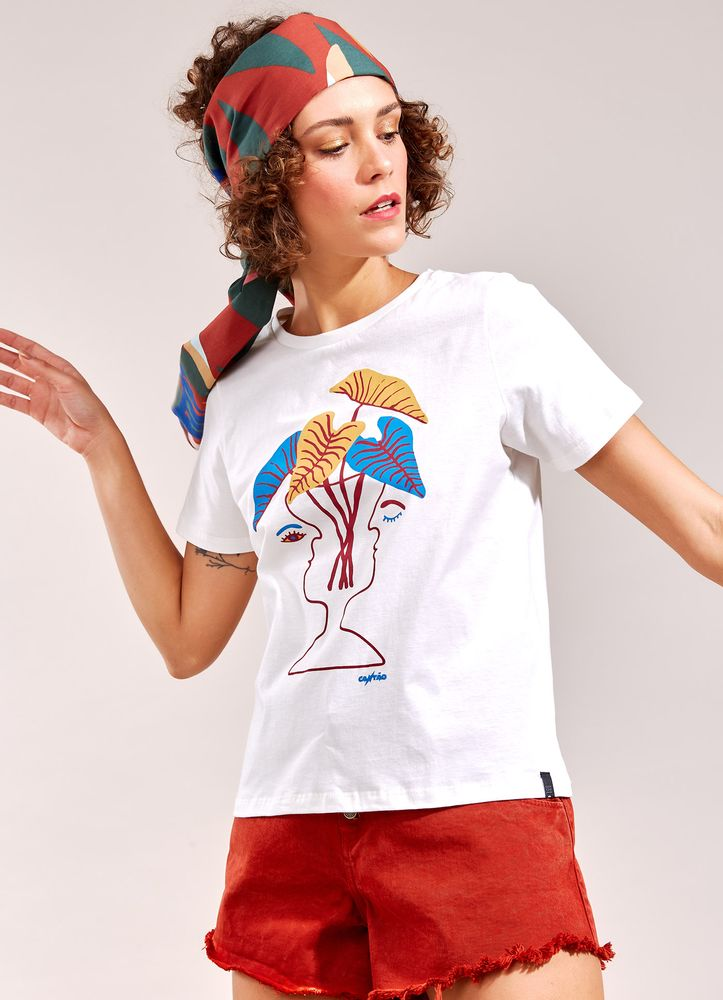 T-Shirt Local Vaso BRANCO